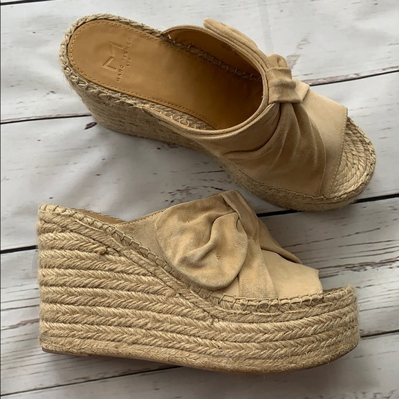 02c340a4a0d Marc Fisher Aida Bow Espadrille Wedges